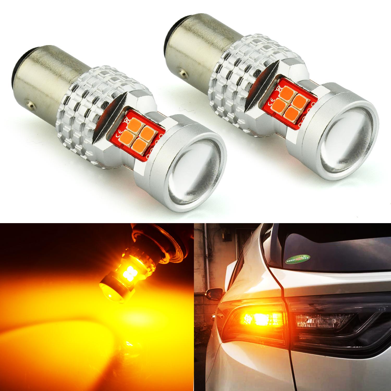 LED Light 30W BAY15d 2057 White 6000K Two Bulbs Signal Park Brake Tail Stop