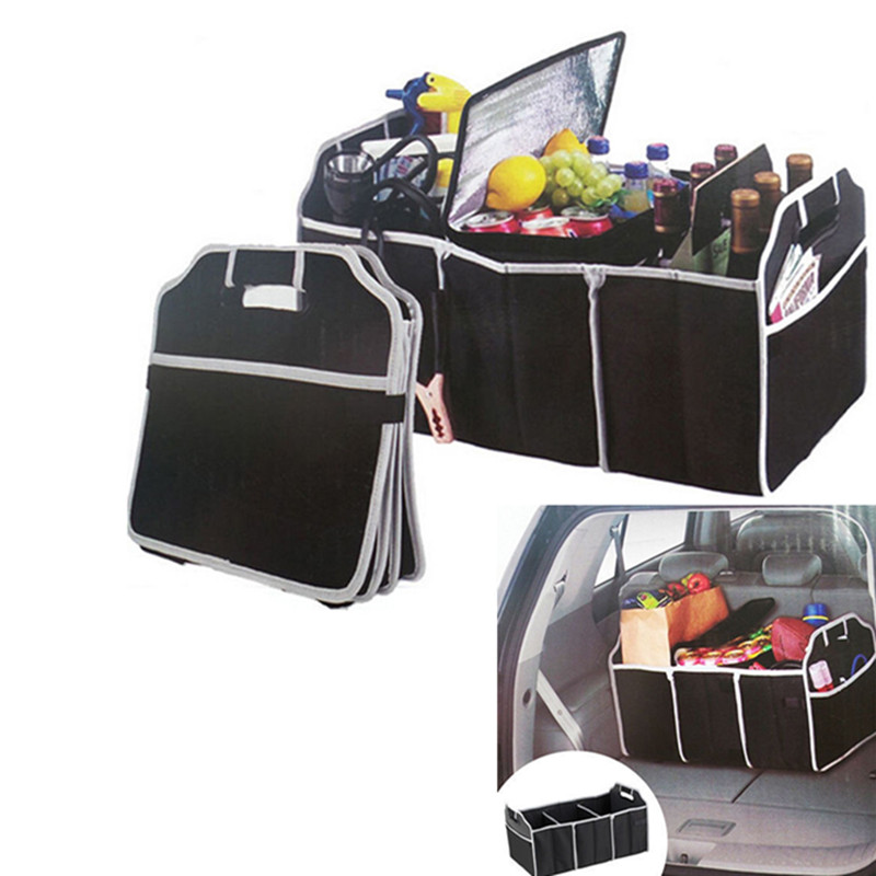 Car trunk Organizer Folding Fold Collapsible Storage Bag Box Fit For Audi Sline