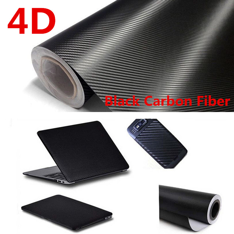 4D Carbon Fiber Vinyl Film Car DIY Wrap Sheet Roll Film Sticker Decal