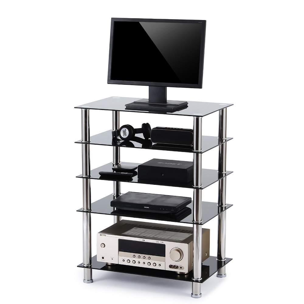 Beautiful Audio Component Rack AV Tower Media Stereo Stand Electronics Equipment  Shelves