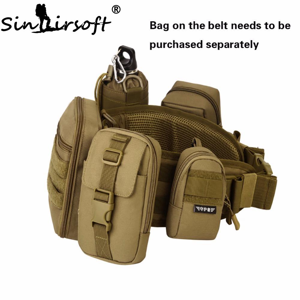Tactical Waist Belt Men Camouflage VEST Adjustable Military MOLLE Belt Vest