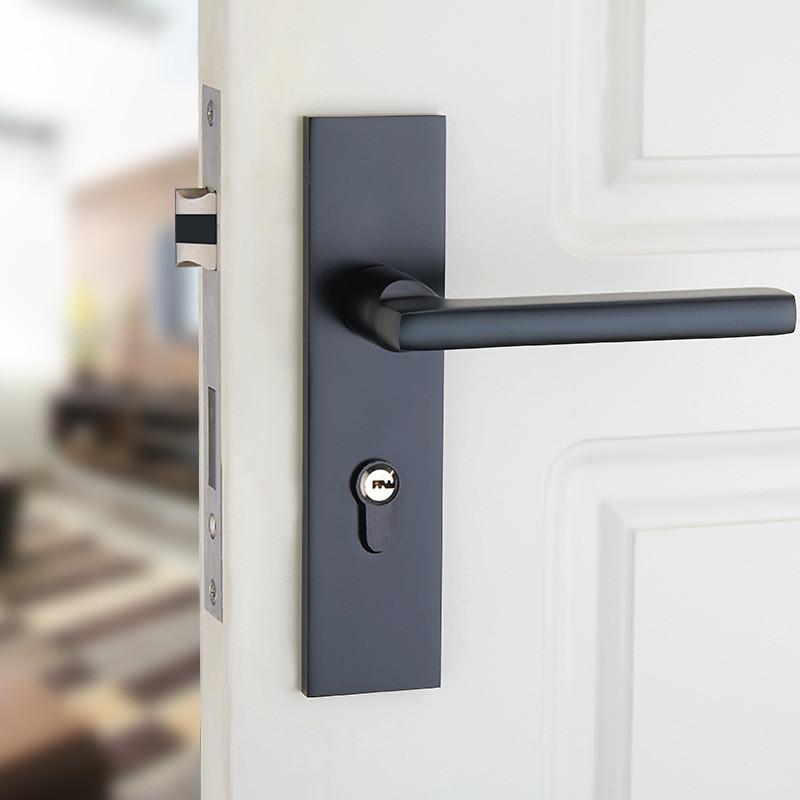 Passage Privacy Entrance Door Handles Door Locks Black Bathroom Pulls Black  Pull