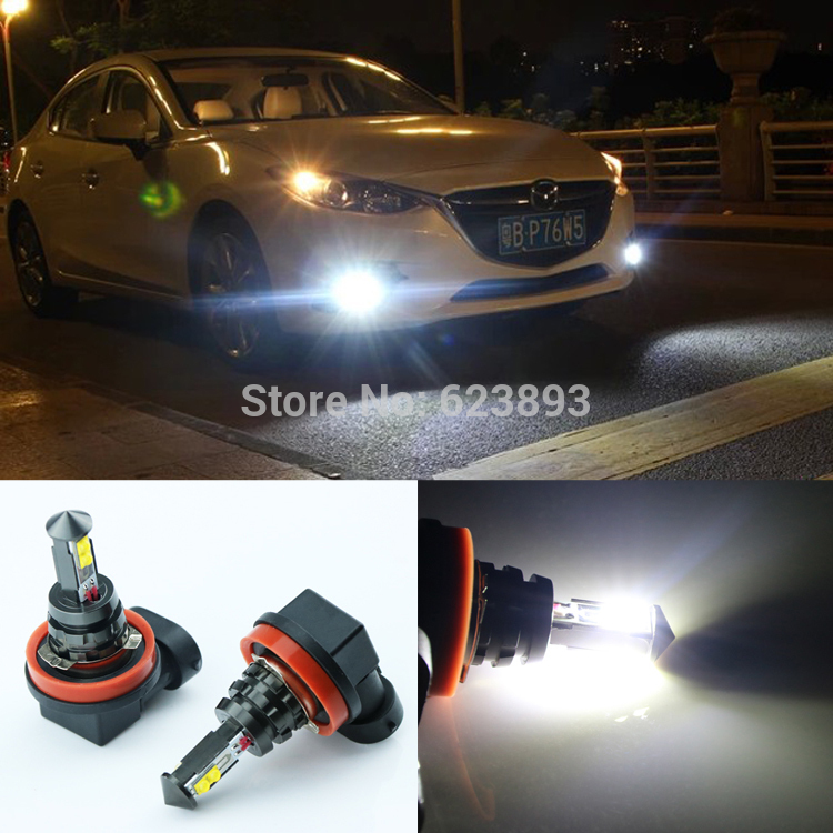 2pcs Error Free H11 CREE 20W LED Fog Lights DRL Bulb For Mazda 3 ...