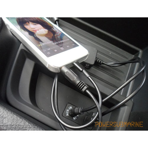 Bmw Mini Cooper Y Lightning Lead Usb Aux Cable For Ipod: Y Cable Lead USB AUX Interface For BMW MINI COOPER IPhone