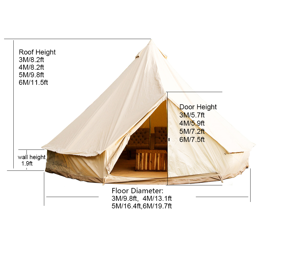 4M Bell Tent Canvas Tent Cl&ing Tent Yurt Mesh Heavy .  sc 1 st  Ecosia & bell tent center pole candelabra - Ecosia