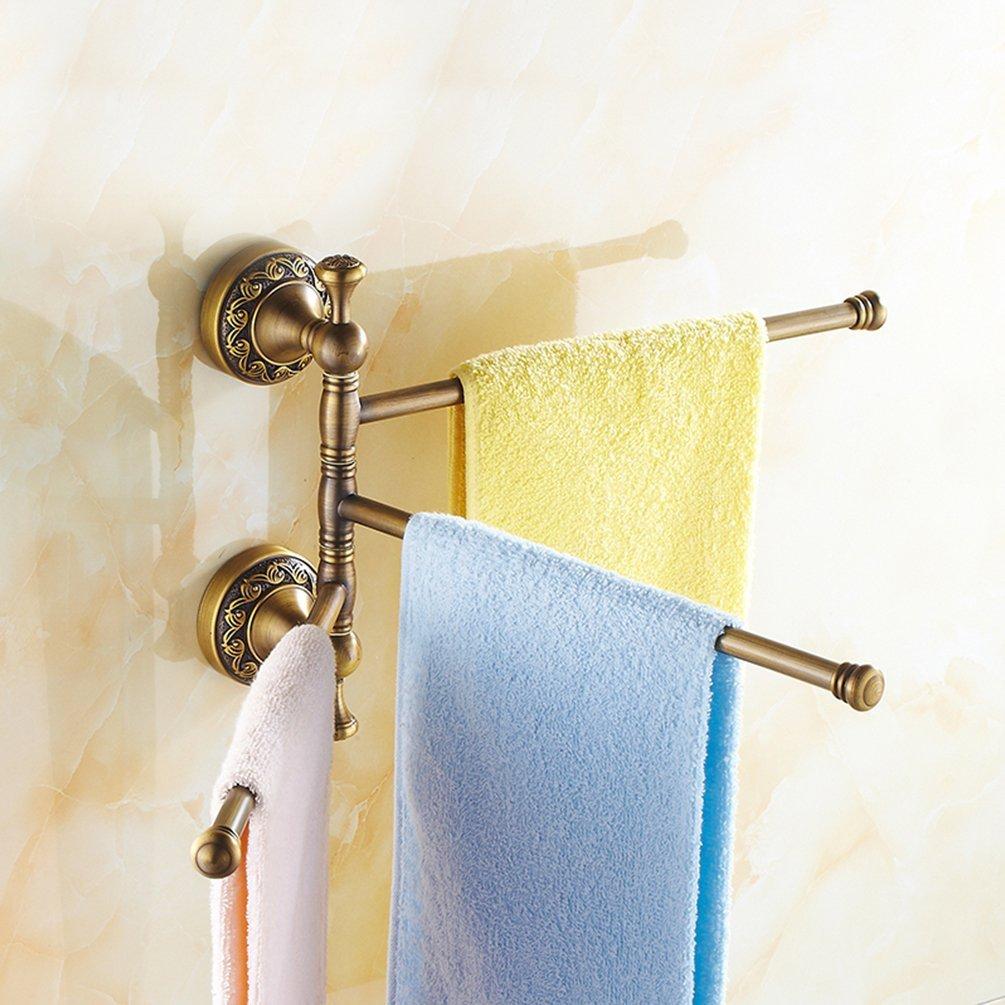 Vintage Towel Storage: Retro Antique Brass Bath Accessory Towel Rail Holder