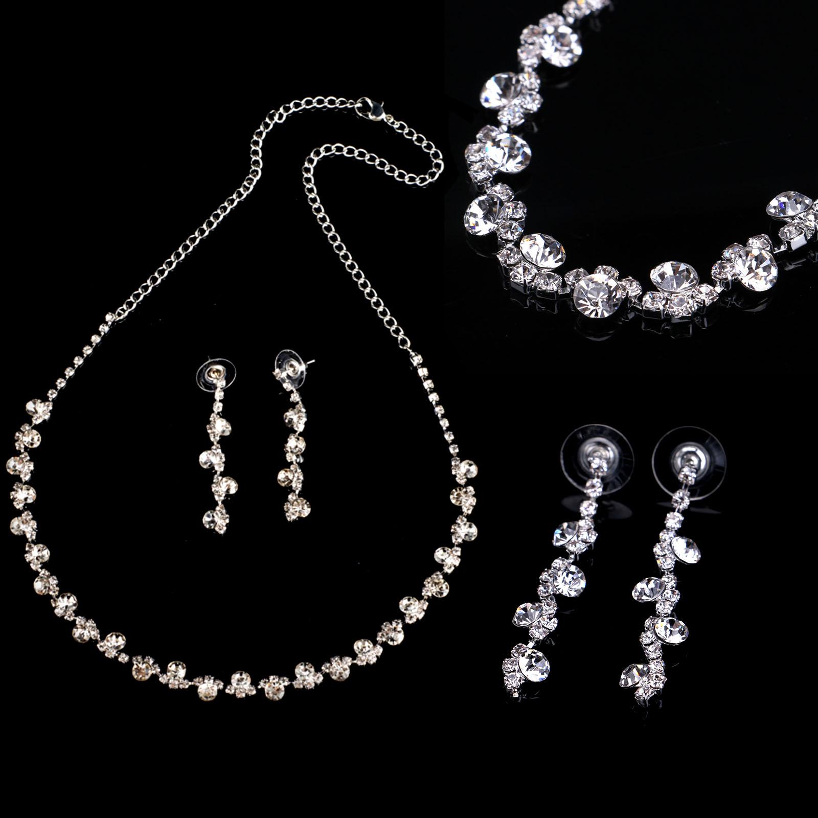 Fashion Earrings Necklace Elegant Jewelry Set Women