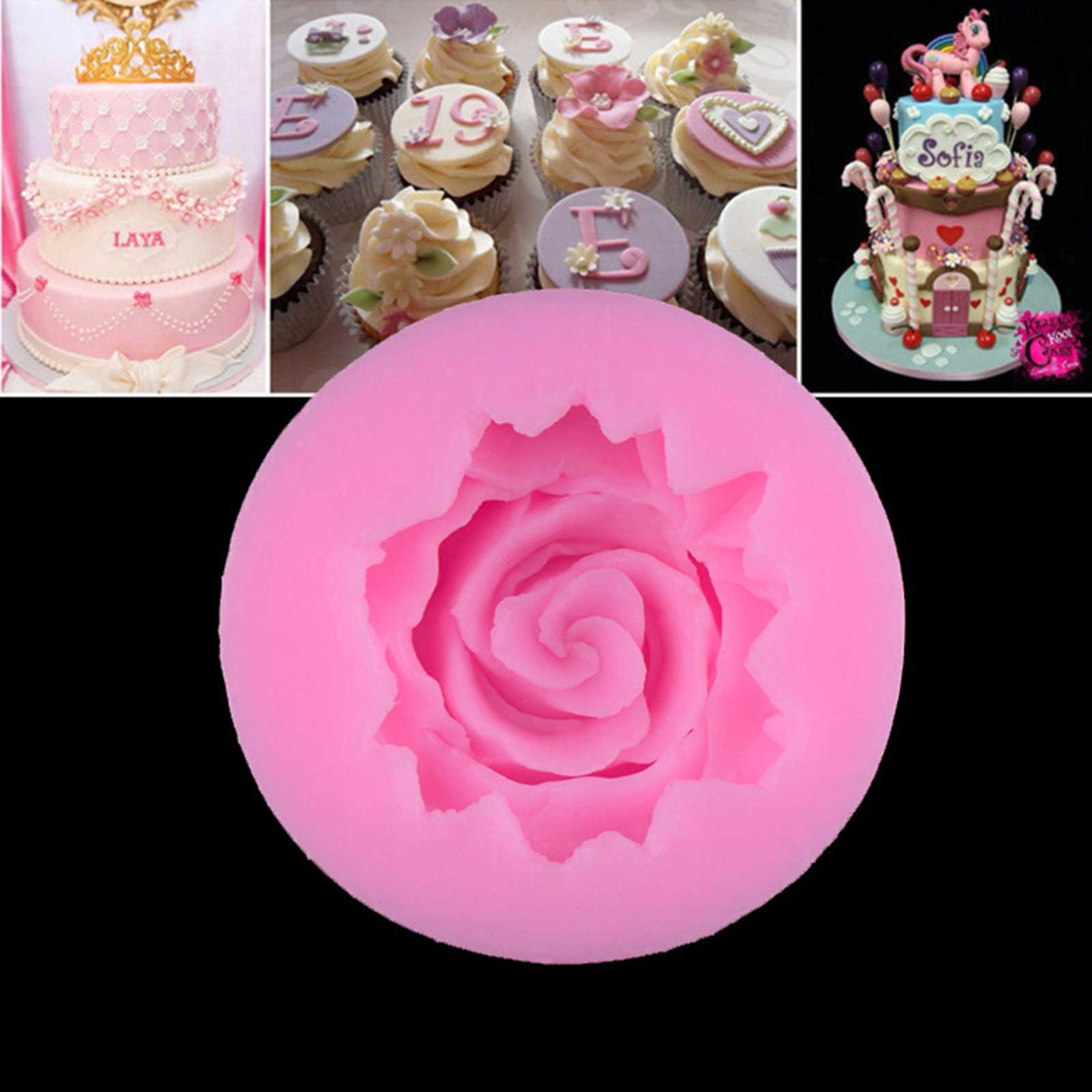 3d flower rose silicone fondant mold cake decoration tools for 3d printer cake decoration