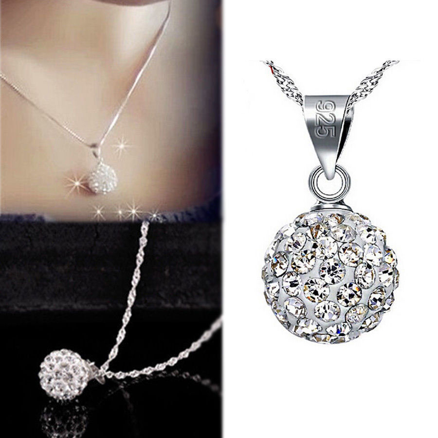 Elegant silver plated aaa crystal ball pendant necklace women elegant silver plated aaa crystal ball pendant necklace women classic jewelry aloadofball Image collections