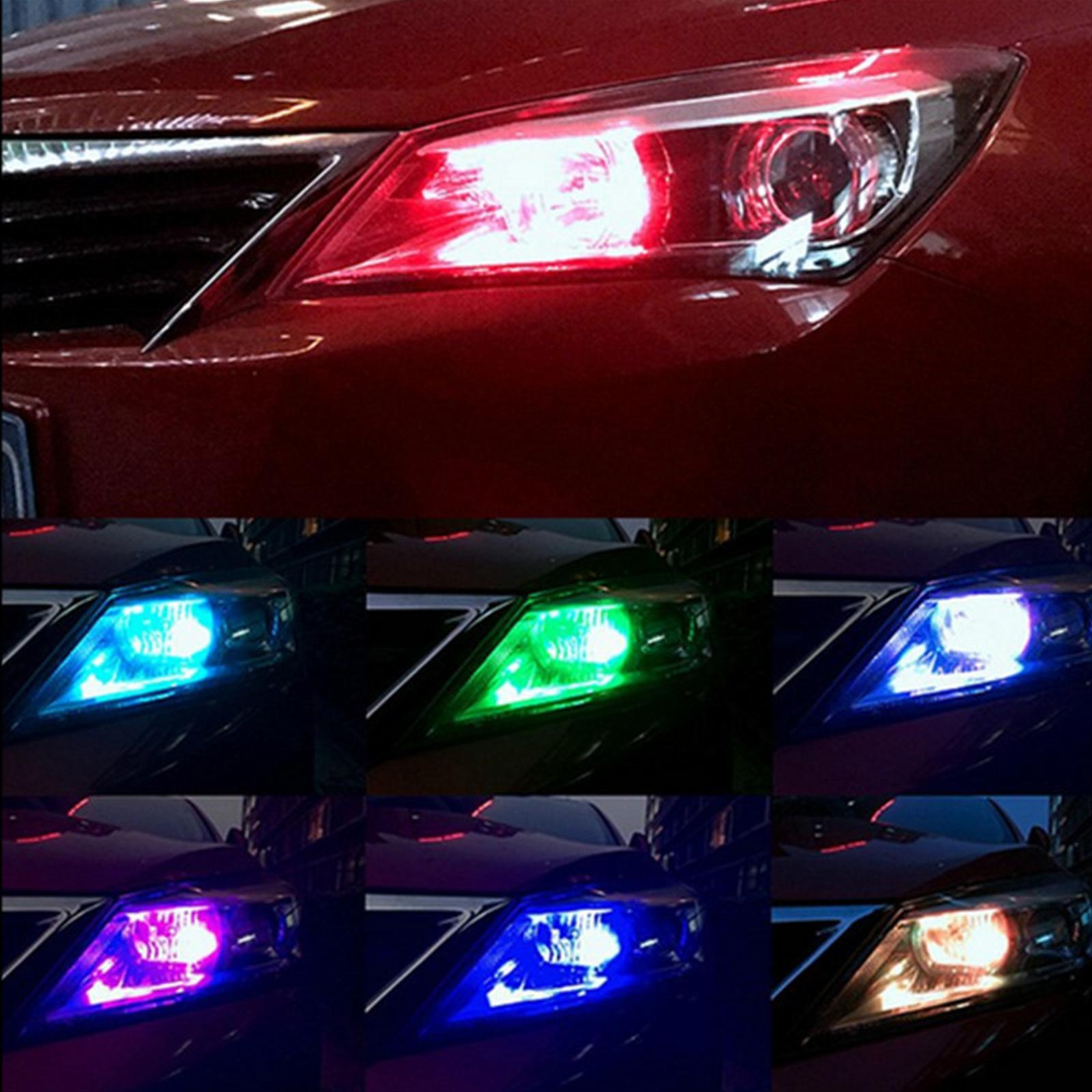 2x Led T10 Remote Control W5w Rgb Color Changing Car Interior Side Light Bulbs Ebay