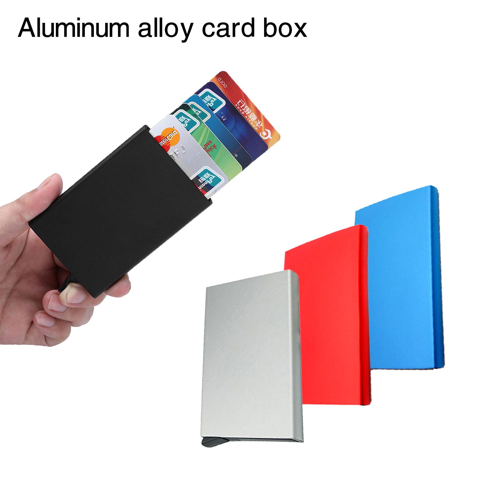 Slim rfid blocking business credit card holder automatic pop up slim rfid blocking business credit card holder automatic pop up slide case colourmoves