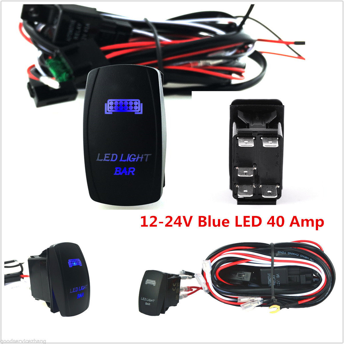 Car Wiring Harness LED Light Bar On Off Rocker Switch For Chevrolet  Silverado