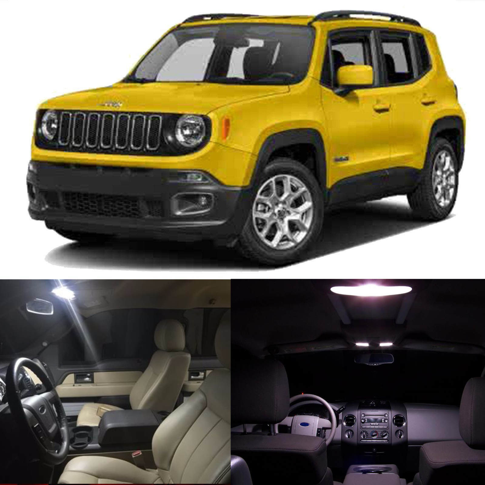 Led Lights Jeep Renegade: White Car LED Bulb Interior Package Lights Kit For Jeep