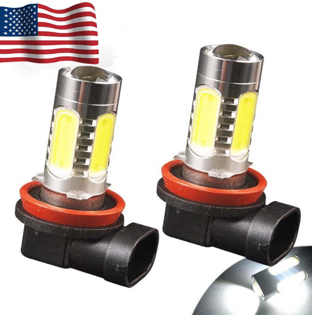 LED 7.5W H11 Yellow 3000K Two Bulbs Fog Light Replace Lamp