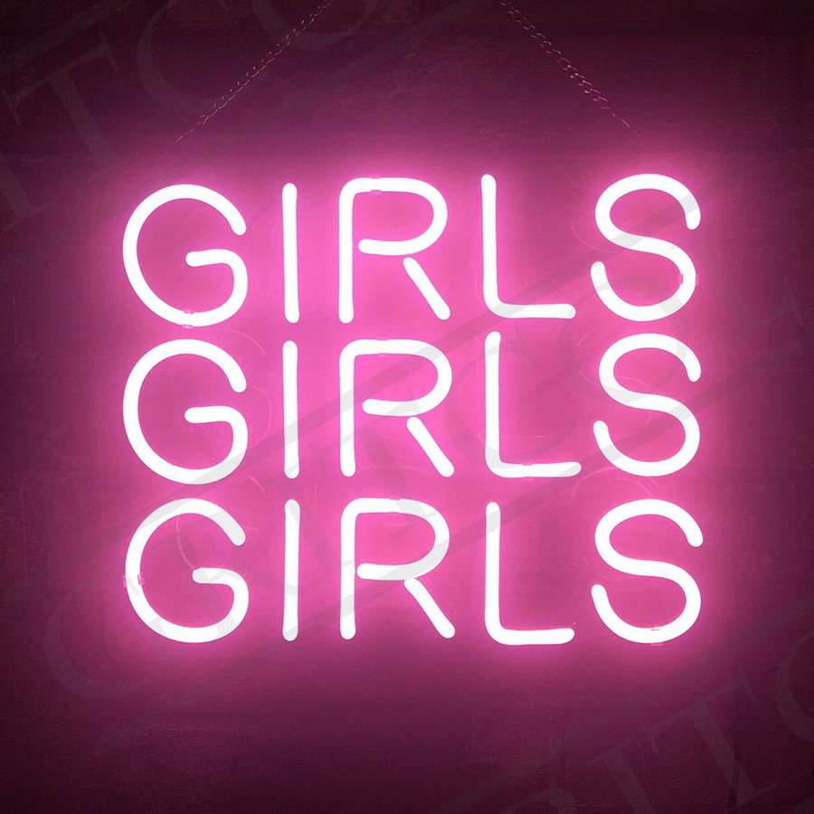 neon sign pink light wall party room nightclub lamp decor bar dorm beer windows floor signs service
