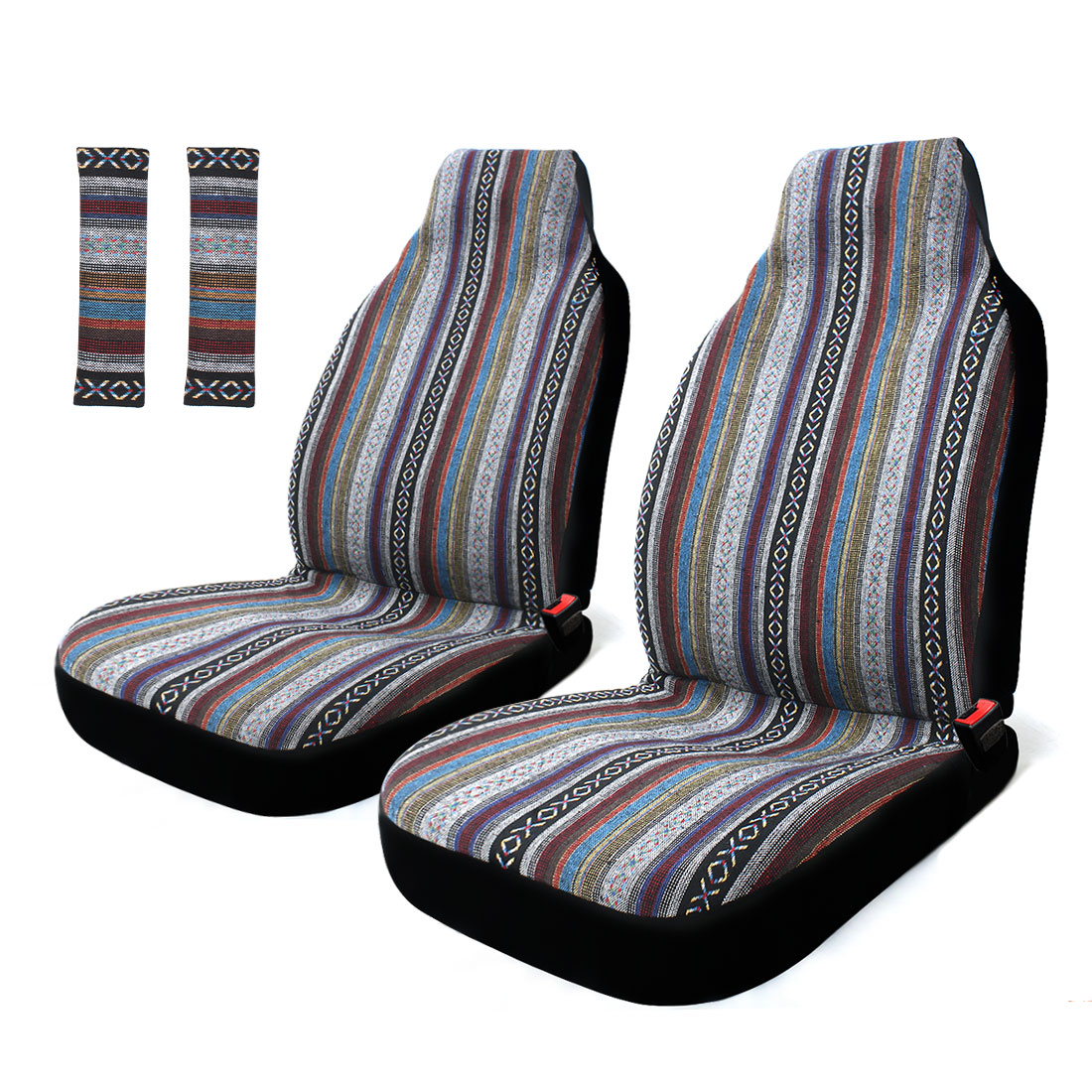 Baja Car Seat Covers Front Universal High Back Blanket