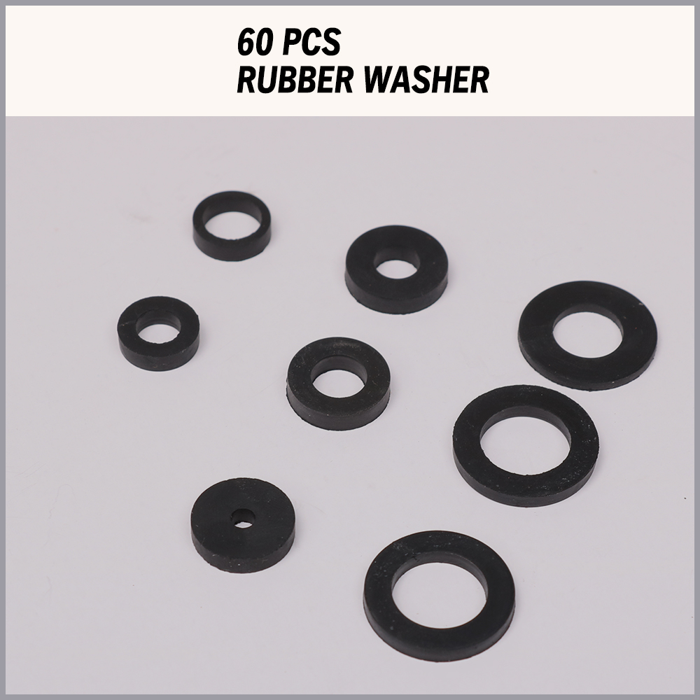 Rubber Faucet Washer Seal Assortment 141pc Water Sealer Fiber O Ring ...