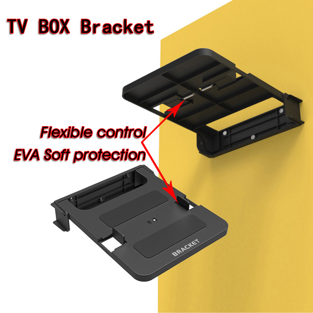 Wall Mount Set Top Box Stand Bracket Dvd Foldable Router