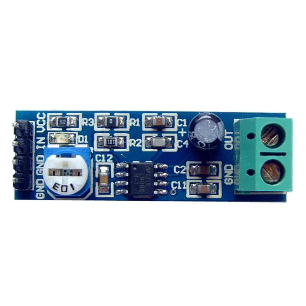 Lm386 200 Gain Power Amplifier Module Audio Board Chip Integrated 2 Watts Stereo Using Three Circuits 5 12v