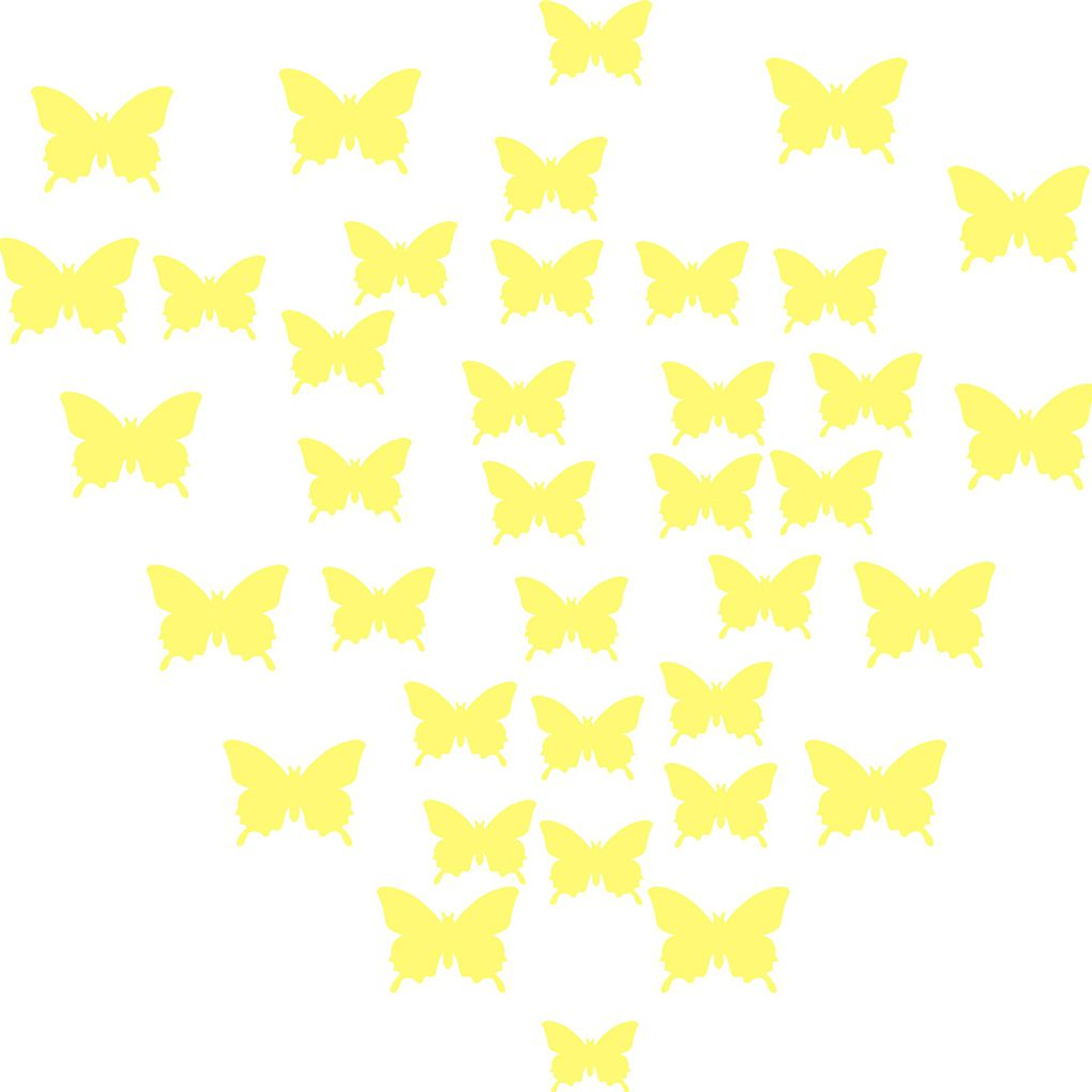 12Pcs DIY 3D Beautiful Butterflies Wall Art Stickers Baby Girl Room ...