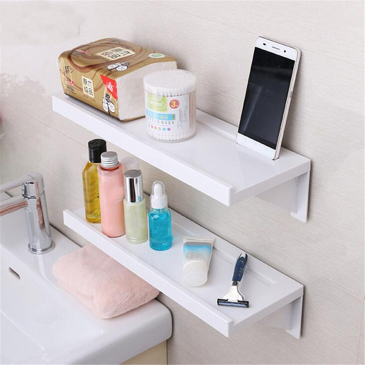 Bathroom Shelf Holder Shower Storage Rack Caddy Shampoo Organiser ...