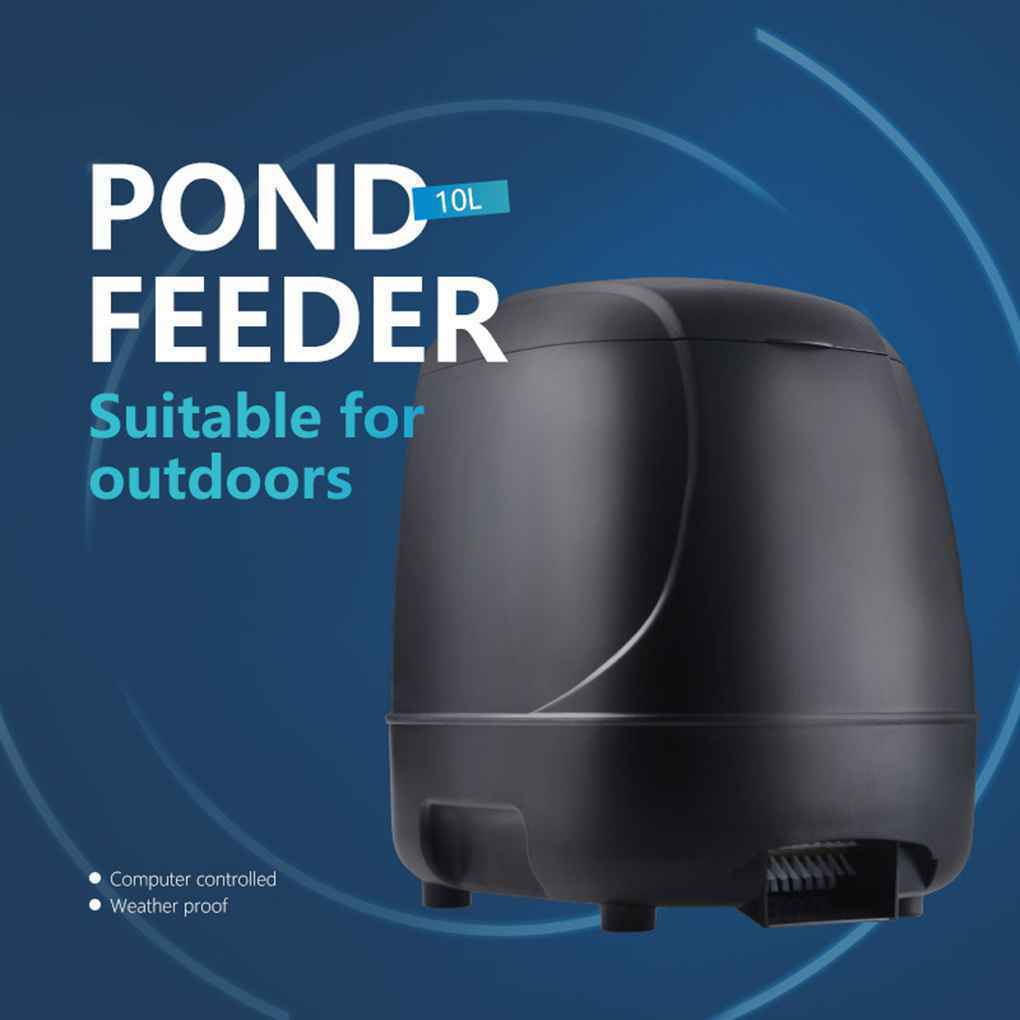 Outdoor Automatic Fish Feeder Timer High Capacity Pond Feeding
