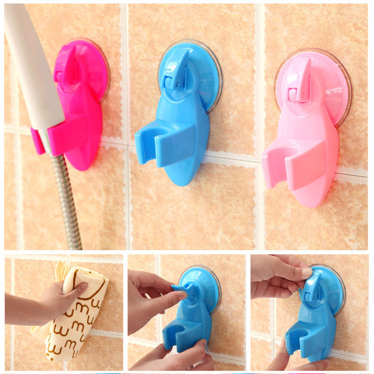 Attachable Bathroom Shower Head Holder Wall Suction Cup Bracket Organizer