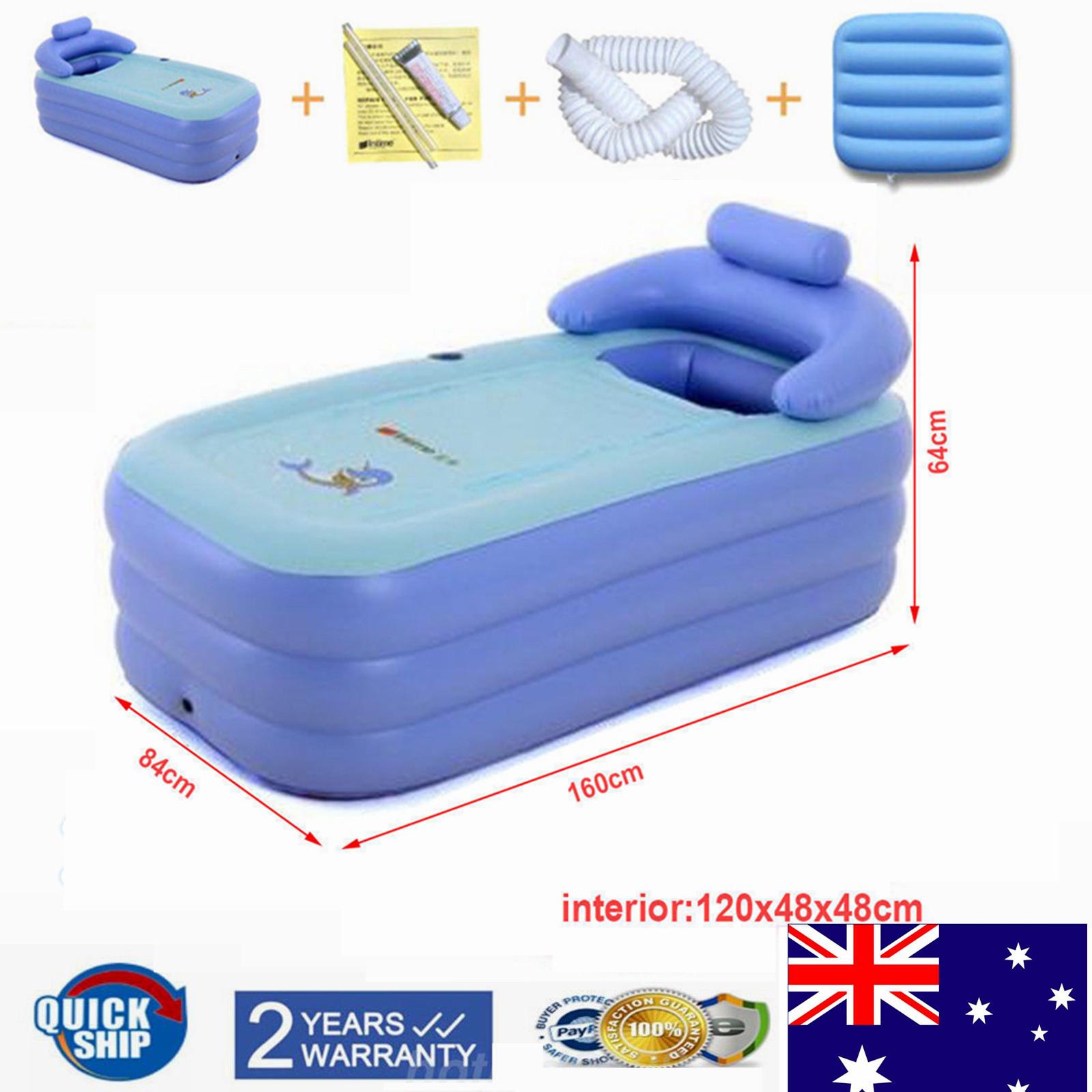 Foldable Inflatable Blowup Bathtub Adult PVC Bath Tub Home Spa ...