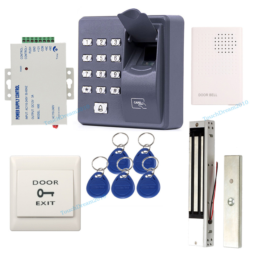 Fingerprint Rfid Door Entry Security Control System With 600lbs