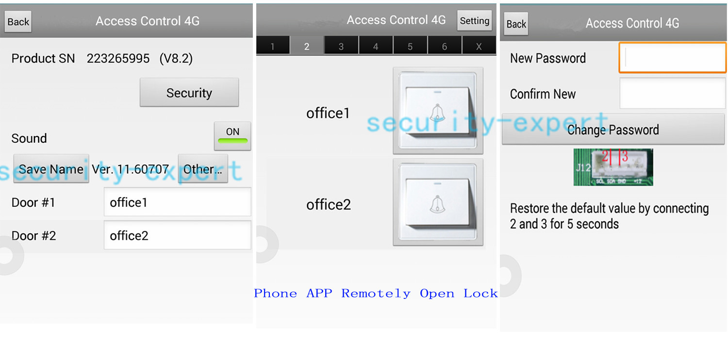 how to lock my iphone 2 doors tcp ip access kit panel controller keypad 17188
