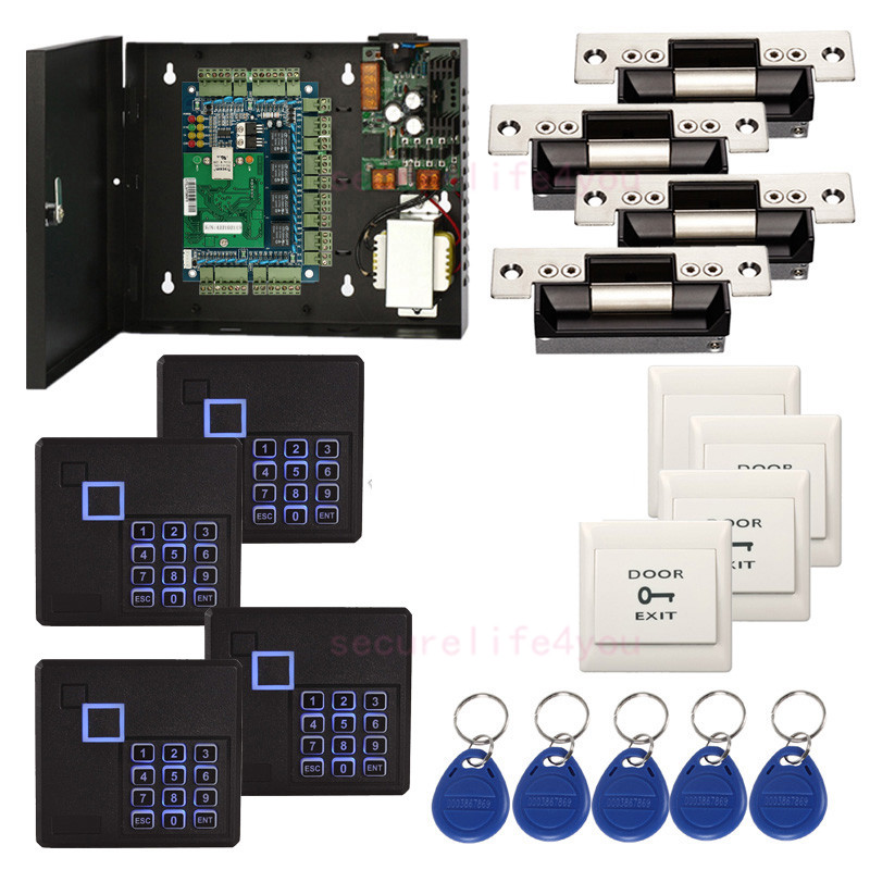 DIY 4 Doors Security Access Systems Kit USA Strike Lock Keypad ... Keypad Door Access Control Wiring Diagram on door schematic, door strike intercom access control diagram, door access controller, magnetic card reader diagram, ring network topology diagram, door hinge diagram, door access systems, entry control point diagram, access control door opener diagram, door installation diagram, door access control riser diagram, double door access control diagram, door access control cable, door access control tools, door frame diagram, access control system diagram, access control schematic diagram, door control system block diagram, door access readers, single door access control diagram,