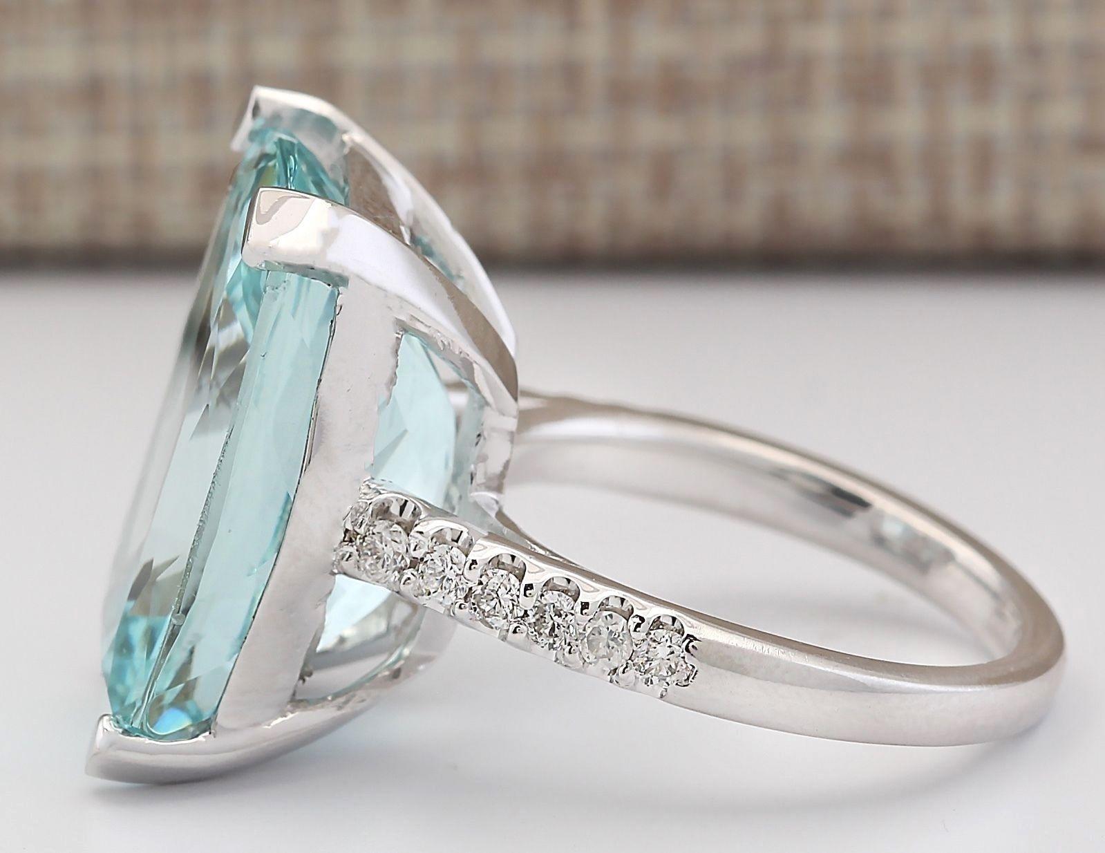 large women jewelry 925 silver aquamarine gemstone wedding