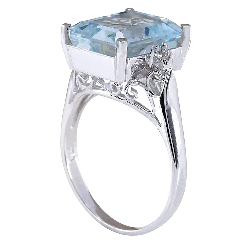 charming jewelry 925 silver aquamarine ruby gem ring women