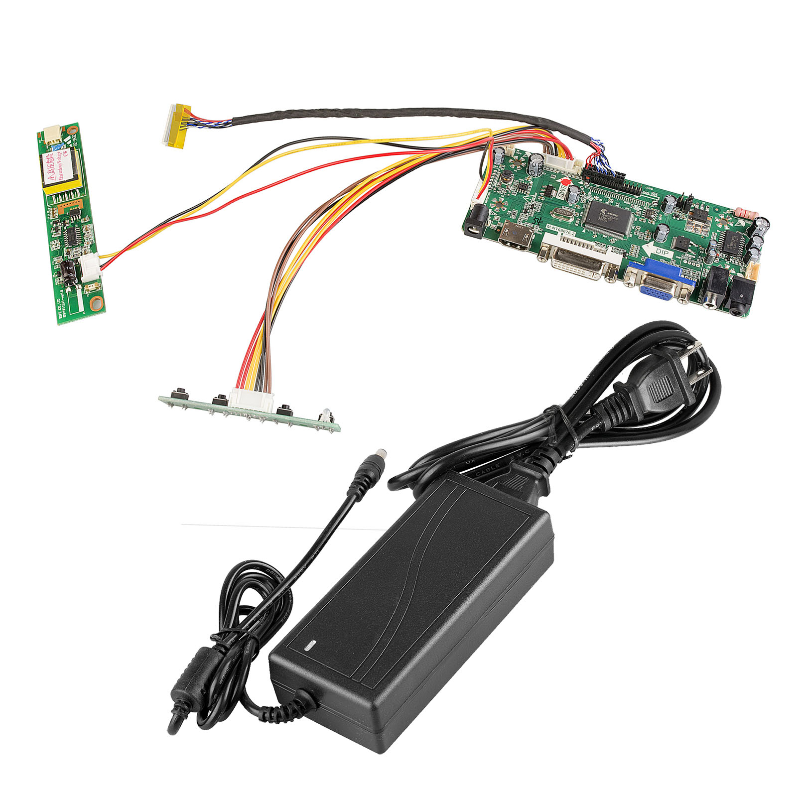 Mnt686762a Hdmi Vga Dvi Audio Lcd Panel Controller Board 12v3a Replacement 12volt Dc Power Plug Optronics Accessories And Parts A Adapter