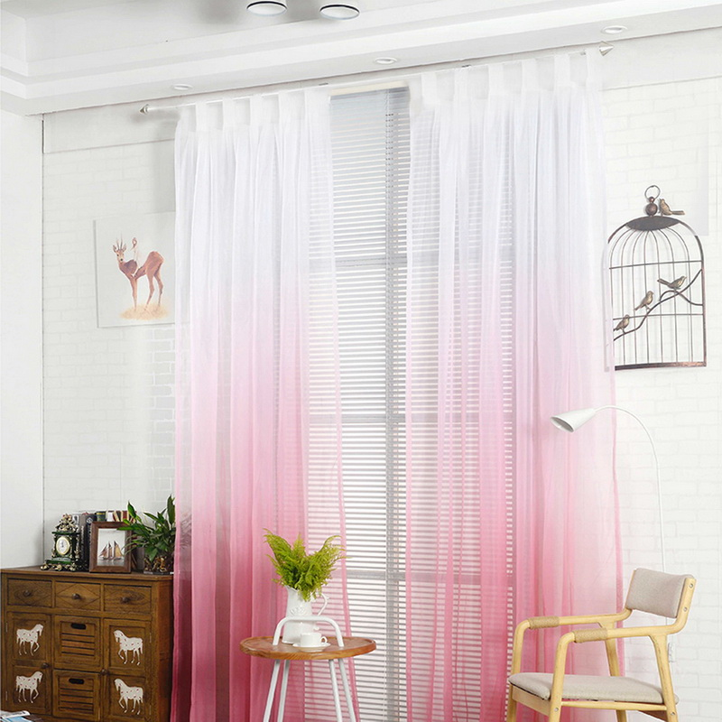 schlaufen farbverlauf transparent schlaufenschal vorhang. Black Bedroom Furniture Sets. Home Design Ideas