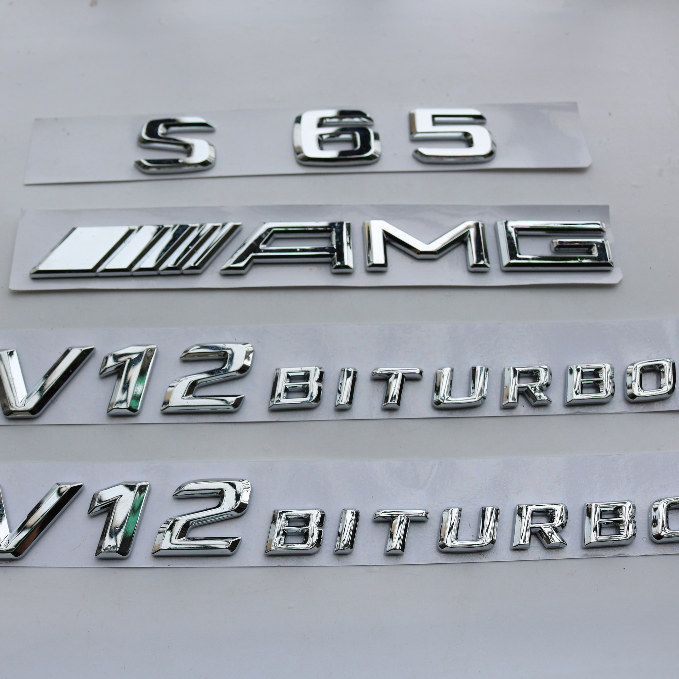"""AMG /"""" High quality Rear Trunk Emblem Decal Badge FOR Mercedes Benz 2018 /"""" S65"""