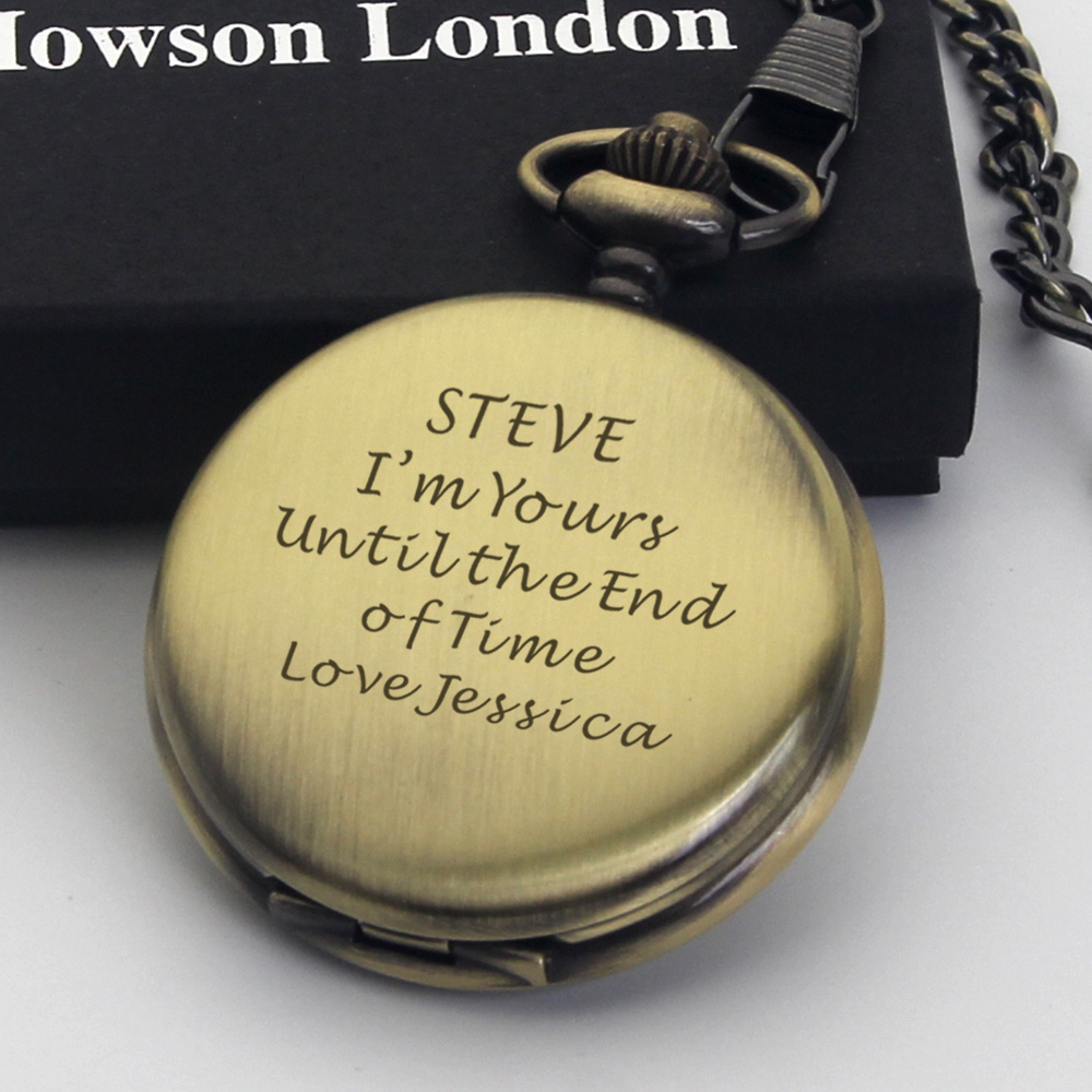 Personalised-Engraved-Pocket-Watch-Chain-Satin-Box-Set-Wedding-Gift-Best-Man