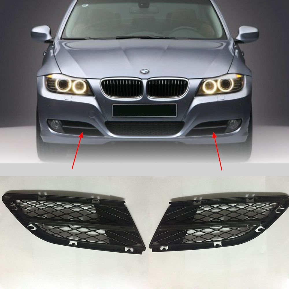 BMW E90 E91 328i 335i 09-11 Front Bumper Replace Clear Fog Lights Lamps Pair Set