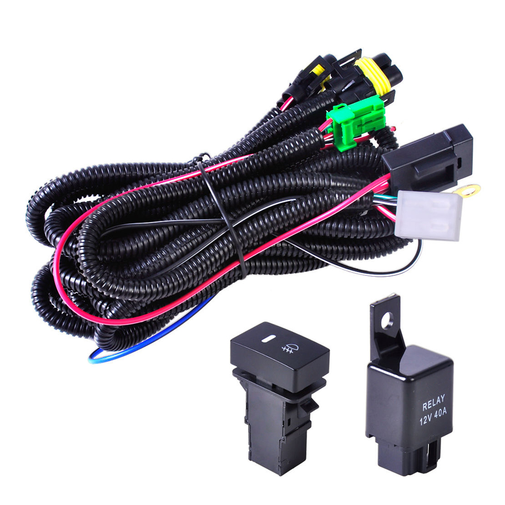 H11 Fog Light Wiring Harness Sockets Wire Led Indicators Switch 12v Honda Pilot Specifications