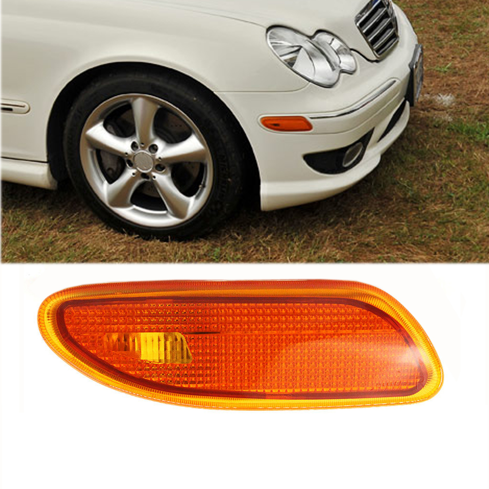 Details about Right For Mercedes-Benz W203 C-Class Side Marker In Bumper  Turn Signal Light