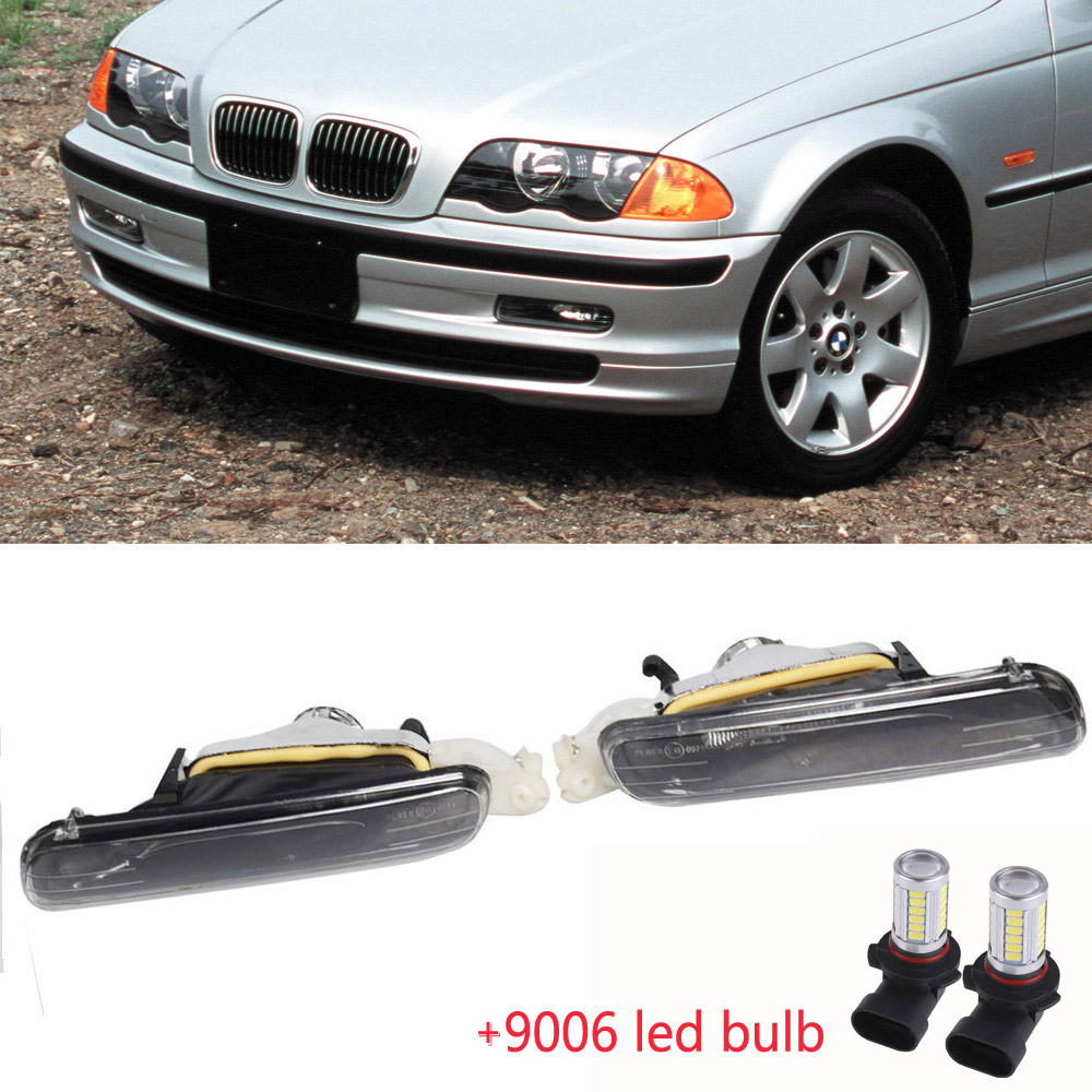 Details About 2x For 1999 2001 Bmw 3 Series E46 4door Fog Lights Driving Lamps Assy 12v 9006
