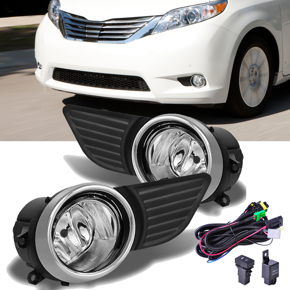 Front Bumper Chrome Grille Fog Light W Switch Wiring Set