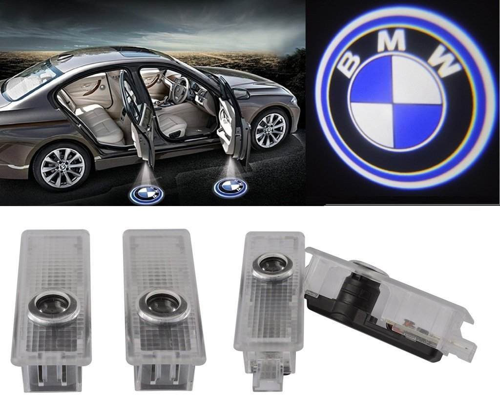 4 For Bmw Logo Led Step Door Courtesy Welcome Light Ghost