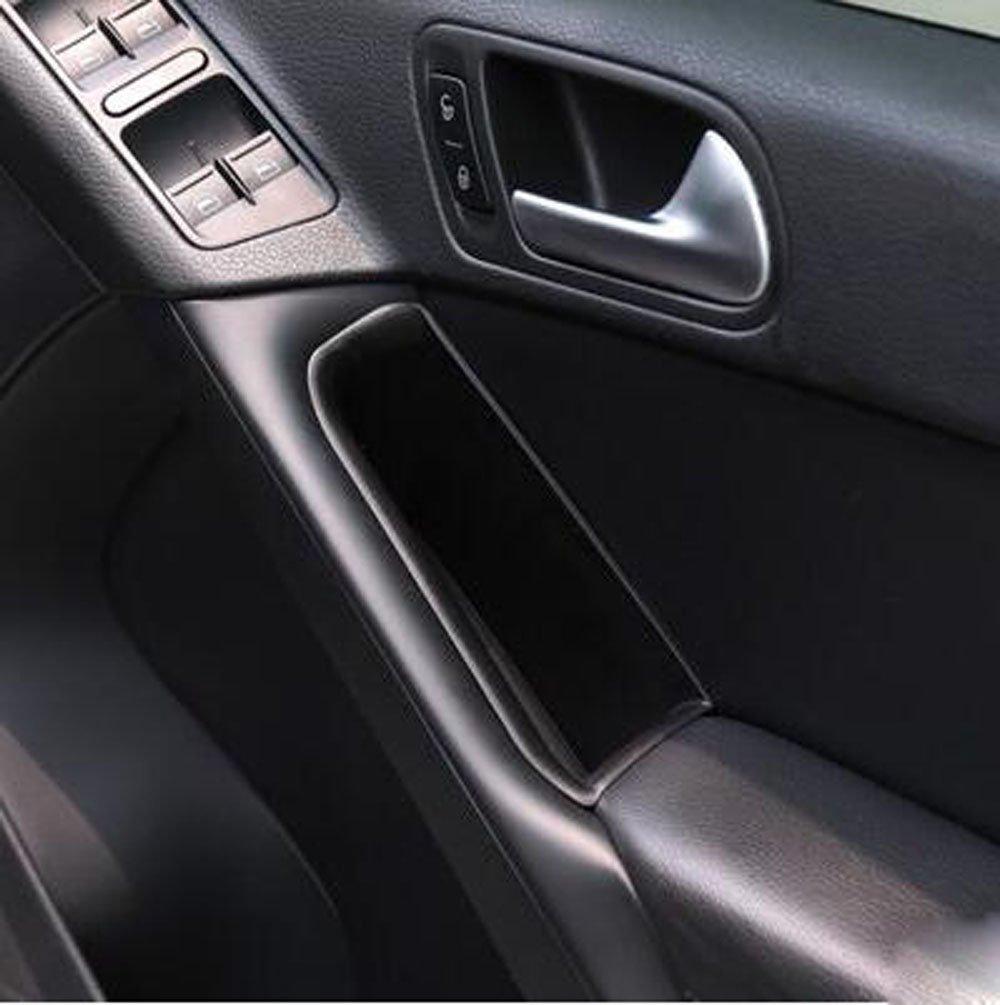 For Volkswagen Tiguan 2010-2015 Plastic Front Door Storage Box Holder Cover 2pcs