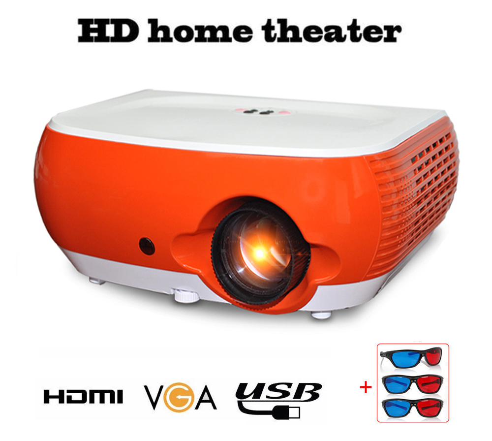 Hd Projector Full Color 720p 2400 Lumens Digital Tv Single: 2800 Lumems HD LCD Projector Home Multimedia Theater HDMI