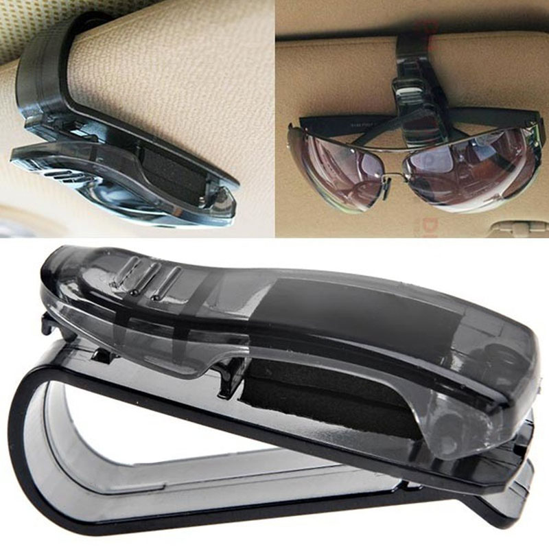 f8f2fd49586 Details about Auto Sun Visor Clip Holder Storage Mount for Sunglasses  Glasses Car Accessories