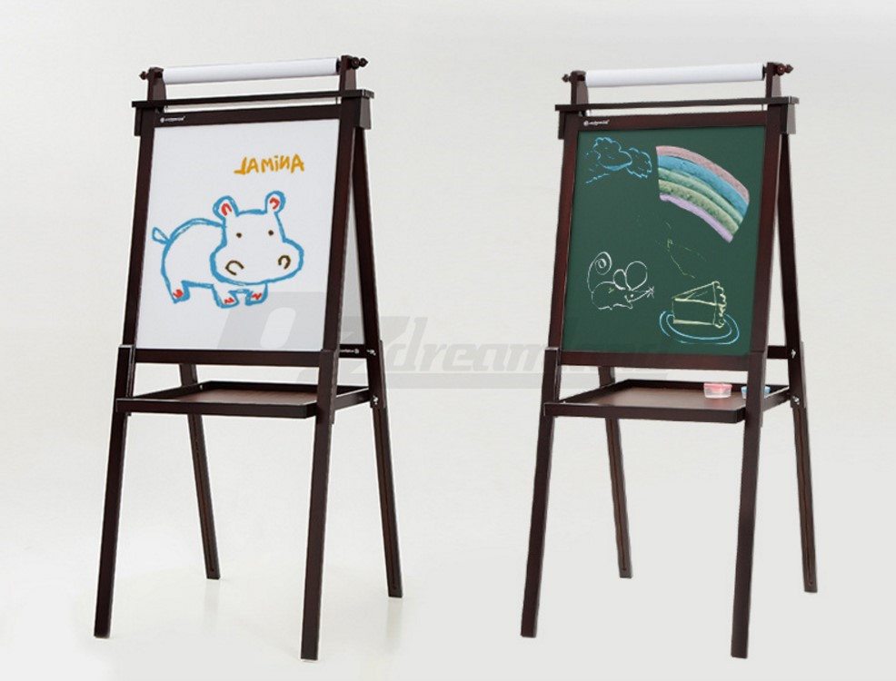 Childrens Kids Foldable Wood Easel Art Painting Magnetic
