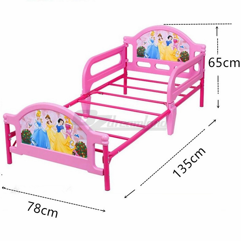 Toddler Bed With Guard Safety Rail Steel Frame Kids Cot