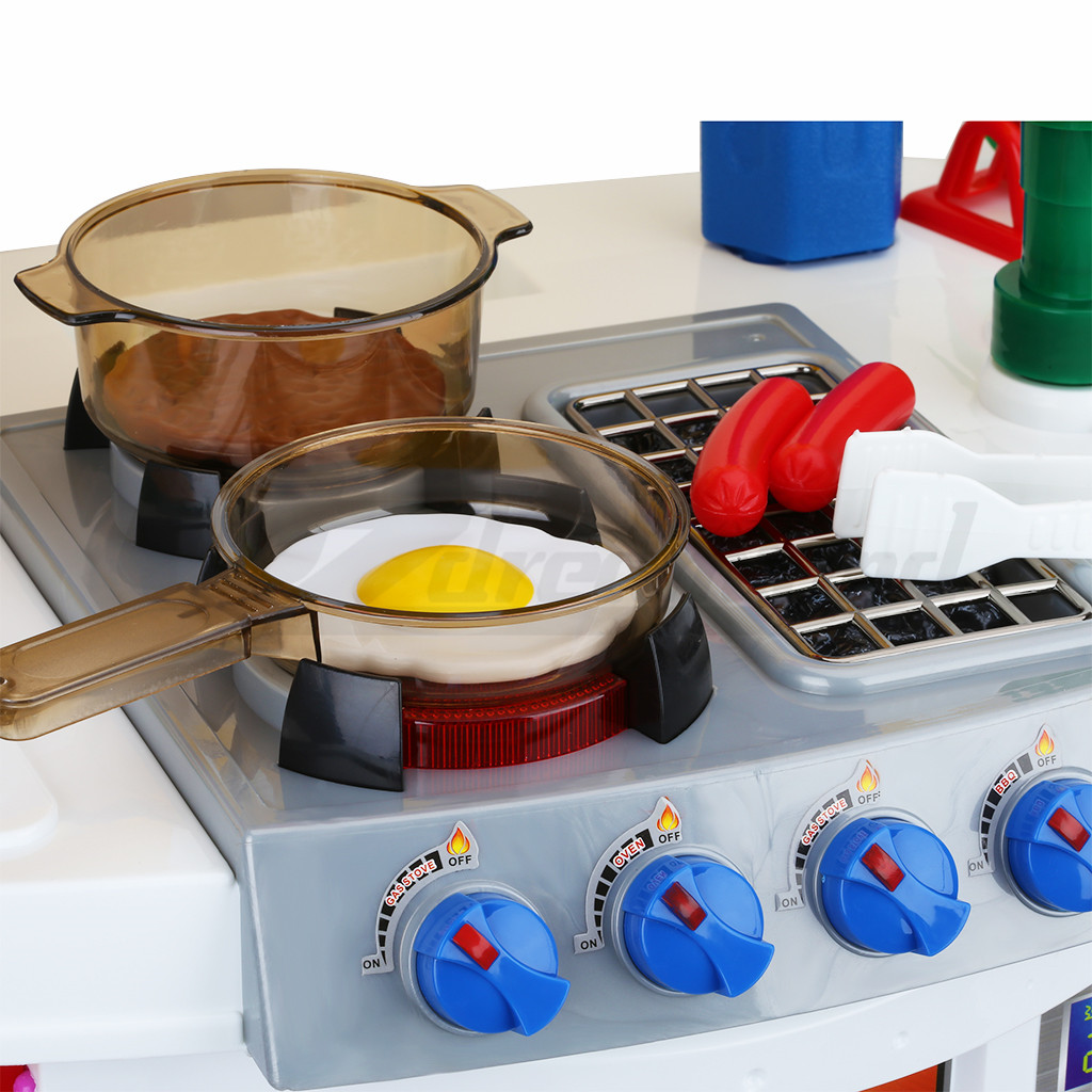 Electronic Kitchen Set: Children Electronic Kitchen Role Pretend Play Cooking Set
