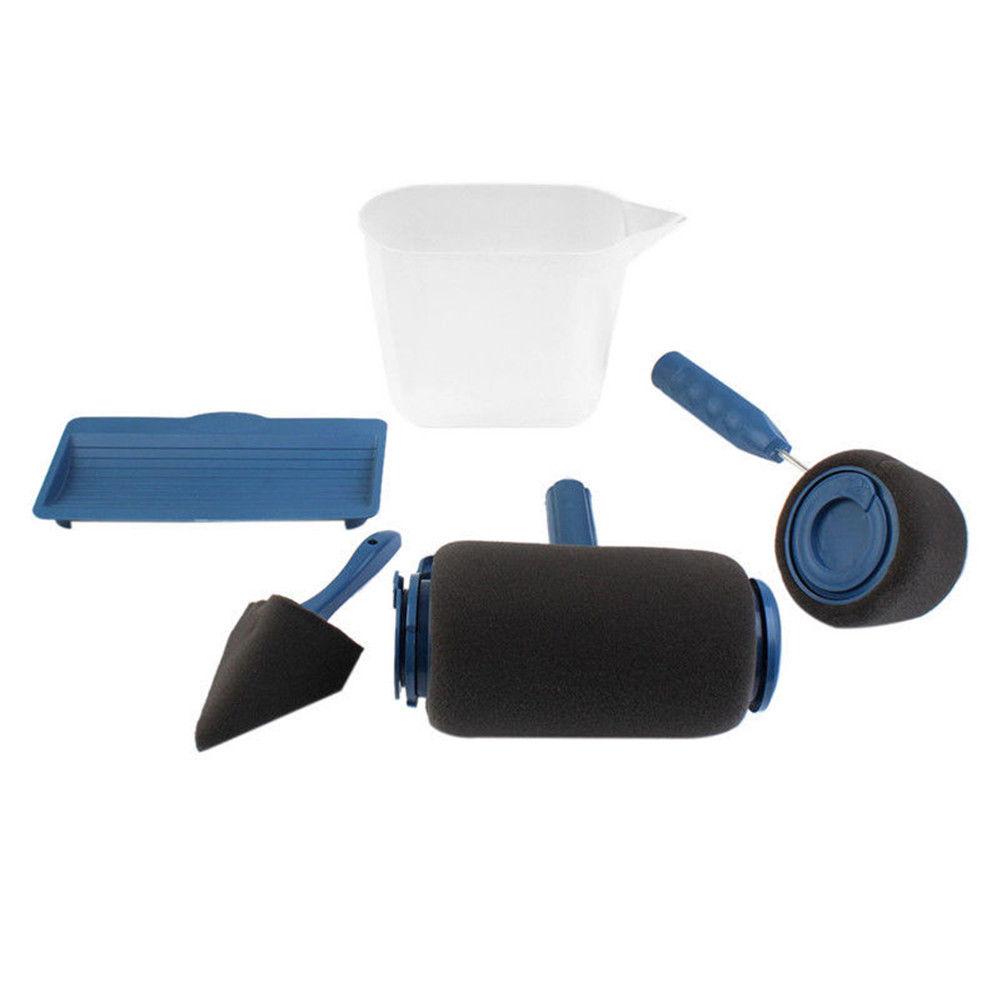 5pcs set pro paint roller runner rouleau de peinture avec reservoir kit peinture ebay. Black Bedroom Furniture Sets. Home Design Ideas